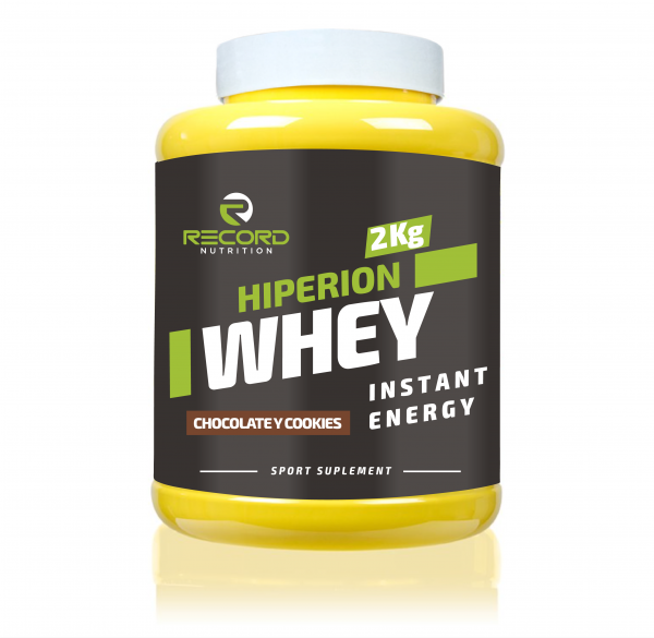 Hiperion Whey 2kg bote plátano y cookies
